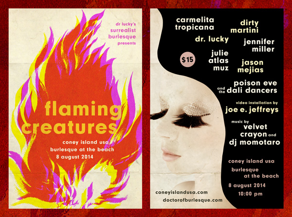 Flaming Creatures Surrealist Burlesque Returns To Coney Island Usa Dr Lucky